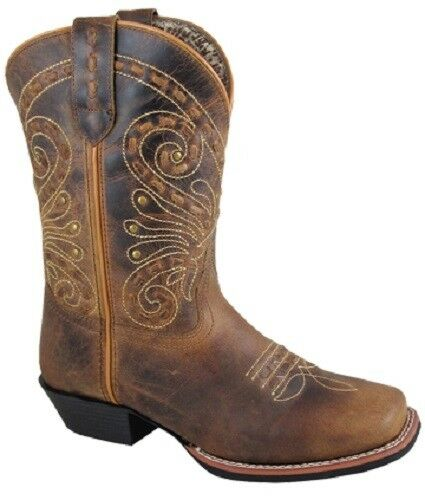 NEW  Smoky Mountain Boots- LADIES - Western Cowboy - 9  Leather Brown Butterfly