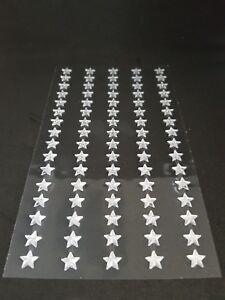 Adhesive-Stick-on-Diamante-Gem-Rhinestone-clear-STARS-8mm-Wide-x-Sheet-of-80