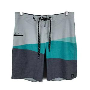 RipCurl-Mens-Board-Shorts-Size-30-Multicoloured-Drawstring-Colour-block