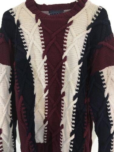 Tommy Hilfiger Men's Sweater Vintage Size M Red Wh