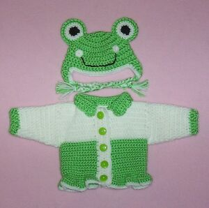 American-Girl-Sweater-Doll-Clothes-Green-Frog-Sweater-Hat-Fits-American-Girl-18-034