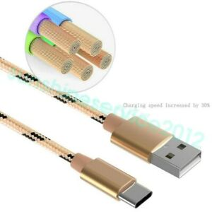 1M-Heavyduty-Braided-Fast-Charge-USB-C-Type-C-Data-Phone-Charger-Cable