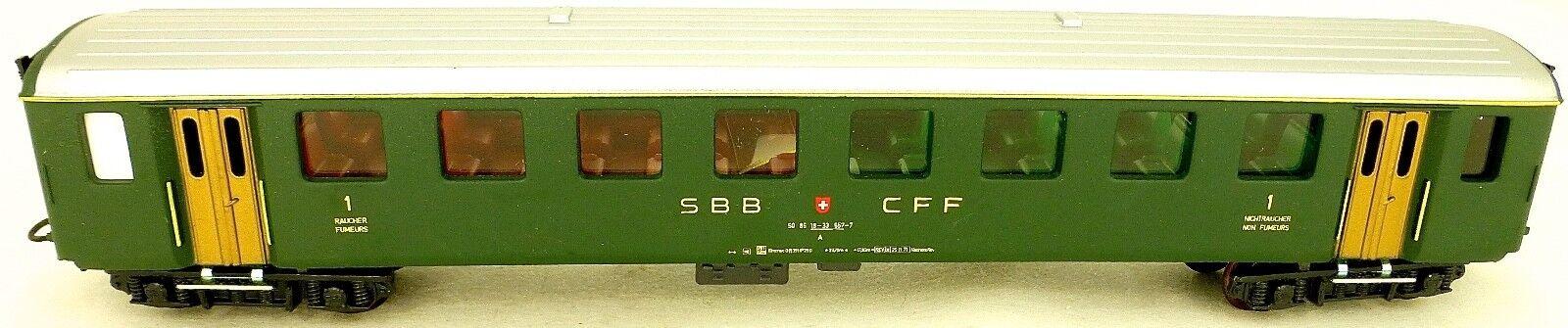 SBB Cff Carroza a 50 85 16-33 557-7 Hag 415 H0 1 87 Å