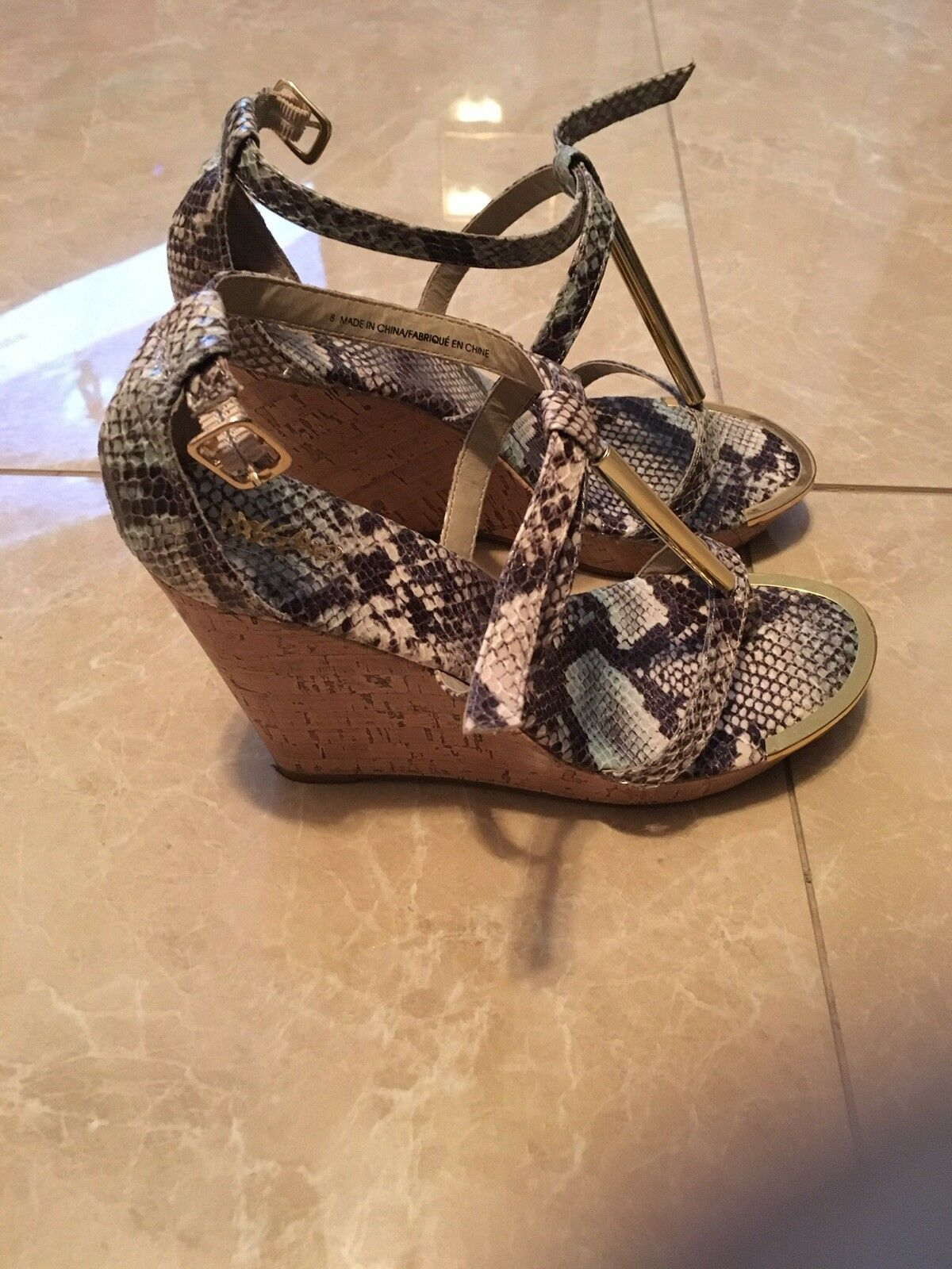 Men's/Women's Animal quality Print Wedge Sandal High quality Animal and cheap Upper material Fair price 519038