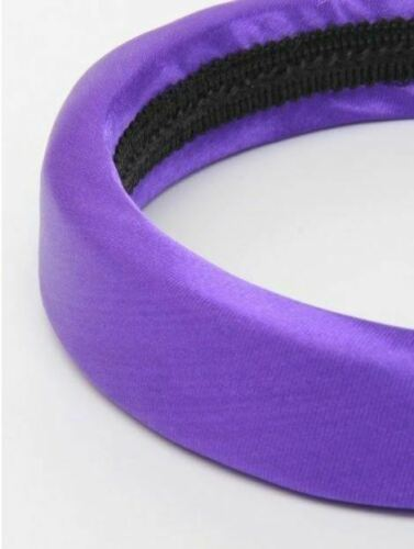 Ladies Girls Padded Satin 2.5cm Hair Band Alice Band Hair Accessory Blue Red