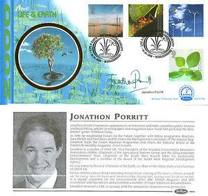 4 APRIL 2000 LIFE AND EARTH BENHAM BLCS 178b FDC SIGNED BY JONATHON PORRITT SHS