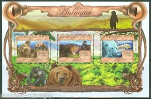 Guinee-2013-LES-ANIMAUX-OURS-feuille-neuf-sans-charniere