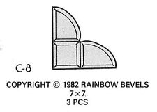 Stained Glass Corner Bevel Cluster Rainbow C8 Supplies - GREAT DISCOUNT PRICE!