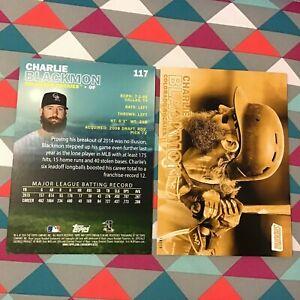 CHARLIE BLACKMON #117 Rockies 2016 Topps Stadium Club 5X7 Gold Version #/10 Made