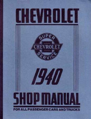 OEM Repair Maintenance Shop Manual Bound Chevrolet Car /& Truck Chassis 1940