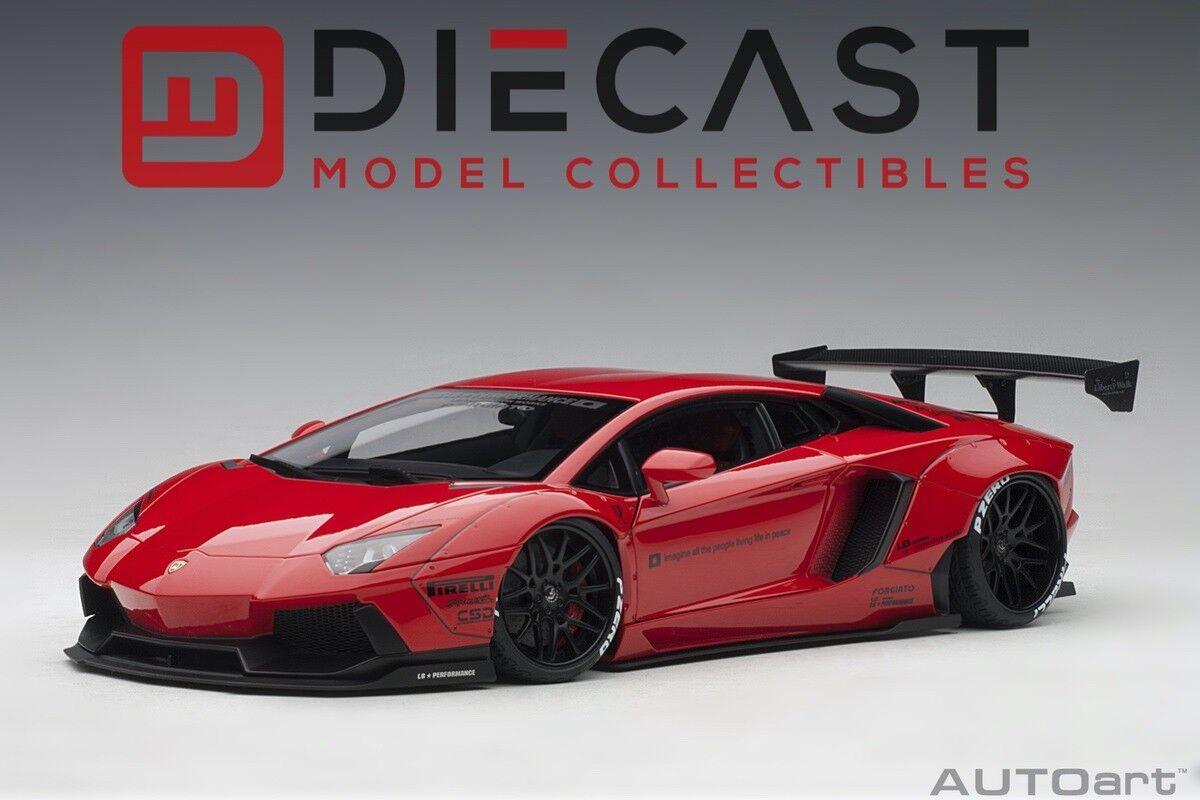mejor opcion Autoart 79108 libertad LB-funciona Lamborghini Aventador caminar (Rojo) 1 18TH 18TH 18TH  Más asequible