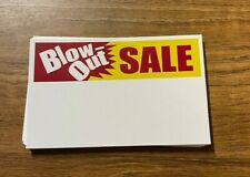 Retail Sale Signs Blow Out Sale Price Display Signs 27pieces