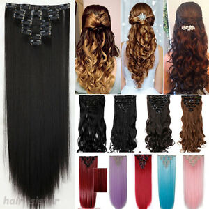 Full-Head-Clip-in-Hair-Extensions-8PCS-18-Clips-Real-Long-Natural-as-Human-H97