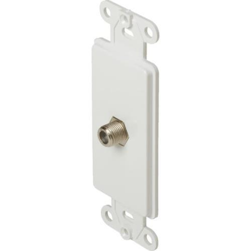 Decorator Cable TV Wall Jack White