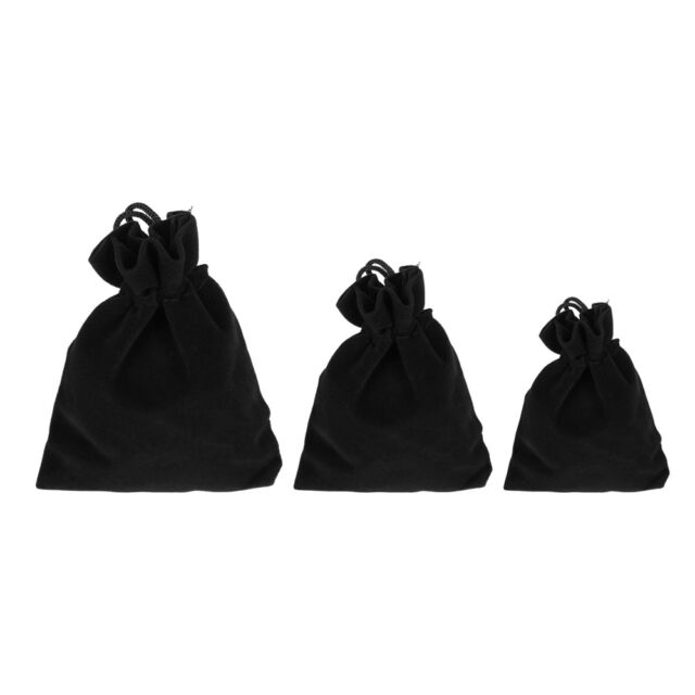 "10 30 PCS Velvet velour Jewelry gift drawstring bag pouch 7x9cm 2.7x3.5/"" Black"