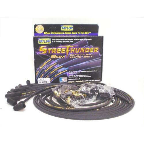 Taylor Spark Plug Wire Set 53010; Street Thunder 8mm Black for Chevy 6 Cylinder