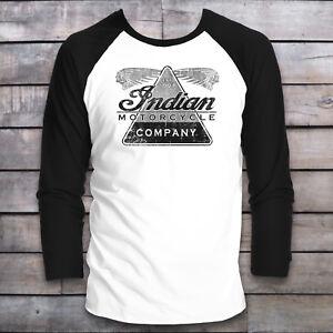 INDIAN-MOTORCYCLE-BASEBALL-LONG-SLEEVE-T-SHIRT-BIKER-VINTAGE-ROCK-RALLY-BIKE