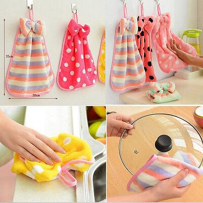 Adorable 1Pc Helpful Kitchen Hanging Fleece Velvet Hand Dry Towel Hot Sale