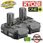 Ryobi P102 18-Volt One+ Lithium-Ion Comp Battery (2 Pack) ZRP102