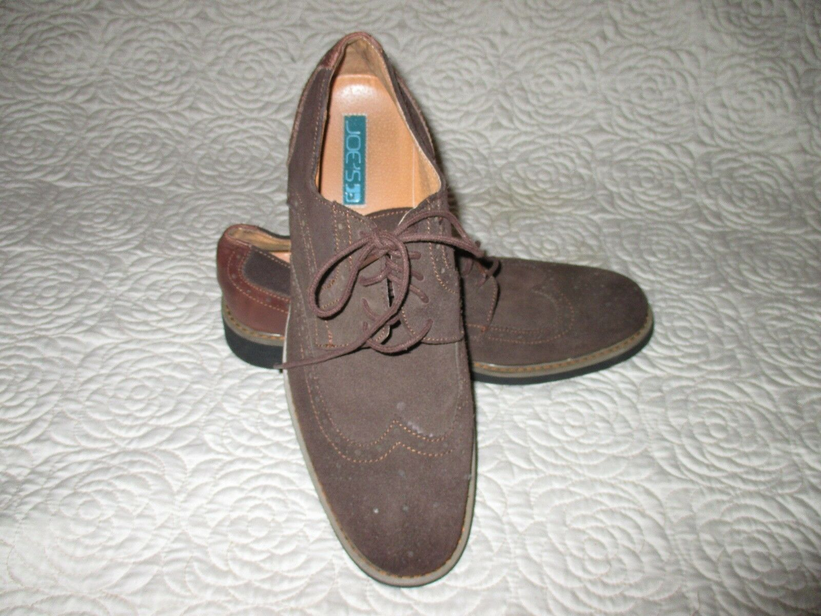 Joe's  Suede leather Oxford shoes Lace Up Brown Size  10