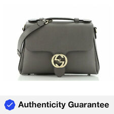 Gucci Interlocking Top Handle Bag Leather Small