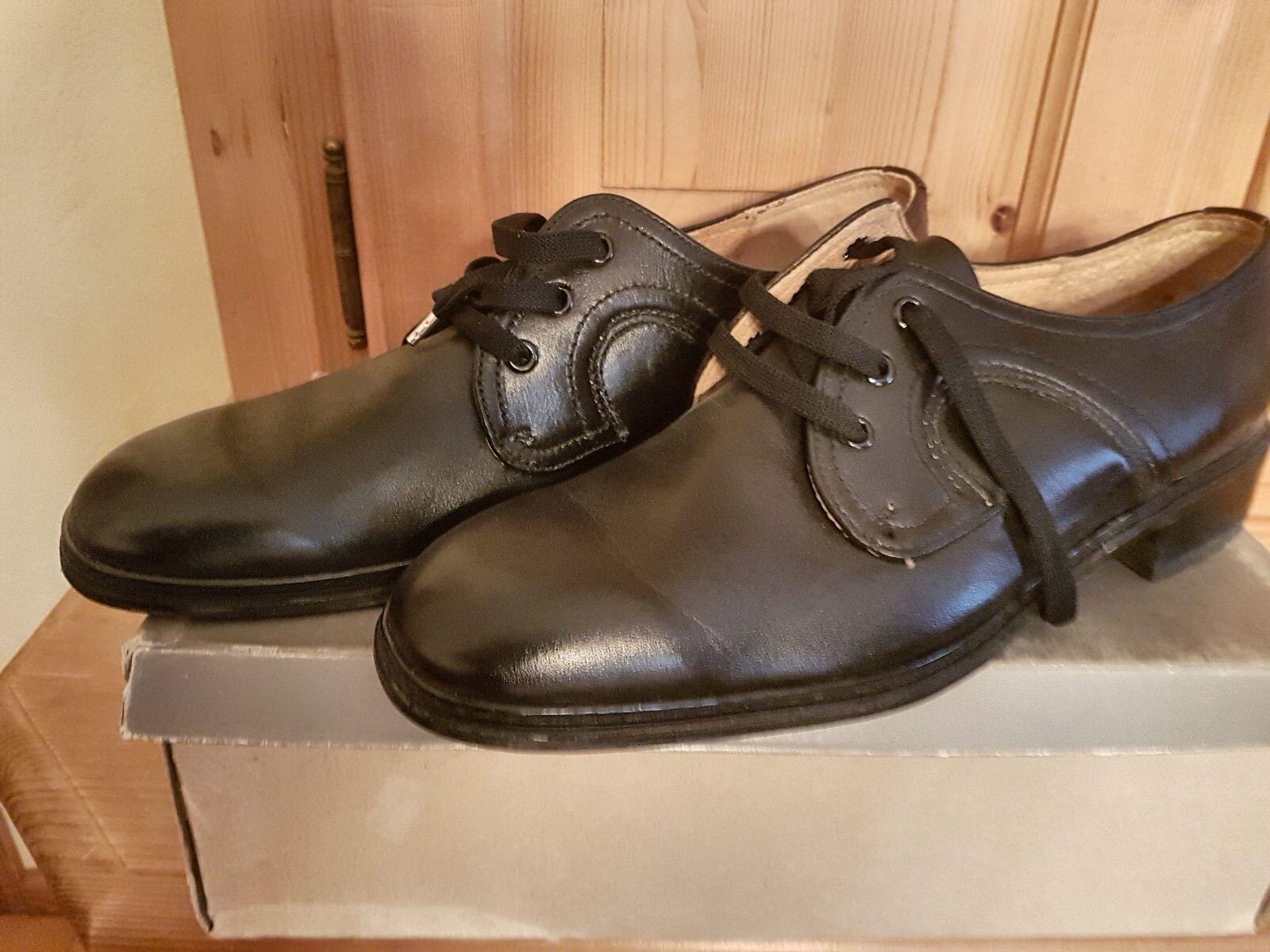 He Voll-Leder Schuhe schwarz Gr 9 Lederbrandsohle