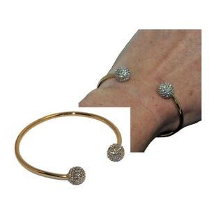 Bracelet-jonc-moderne-de-couleur-or-boules-cristal-blanc-bijou