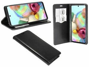 Book-Style-GUSCIO-PER-CELLULARE-BORSA-ACCESSORI-Black-per-Samsung-Galaxy-a71-a715f-cofi