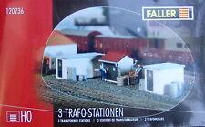 Faller H0 120236-3 Trafostationen   Bausatz Neuware