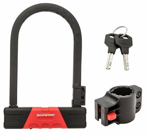 Schwinn SW76391-3 U Lock Ultra Hardened Universal Bike Bicycle Lock