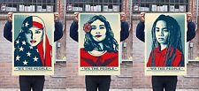 WE THE PEOPLE 24 X 36 LITHOGRAPH  SET : OBEY : SHEPARD FAIREY : ANTI-TRUMP