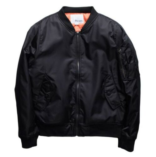 Spring Men/'s Military Bomber Jacket Baseball Zipper Outwear Stand Collar Leisure