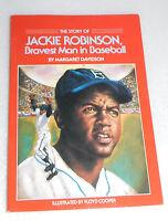 Story Jackie Robinson Bravest Man Baseball Margaret Davidson 1988 Pb Baseball