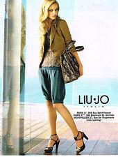 PUBLICITE ADVERTISING 104  2010  LIU-JO  mode pret à porter