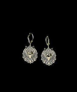Persian-Cat-Earrings-Fashion-Jewellery-Gold-Plated-Leverback-Hook