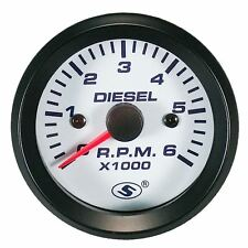 52 Mm Universal Tachometer For Diesel Engine 6000 Rpm For Alternator