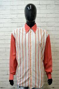 HARMONT-amp-BLAINE-Camicia-a-Righe-Uomo-Taglia-2XL-Maglia-Camicetta-Shirt-Men