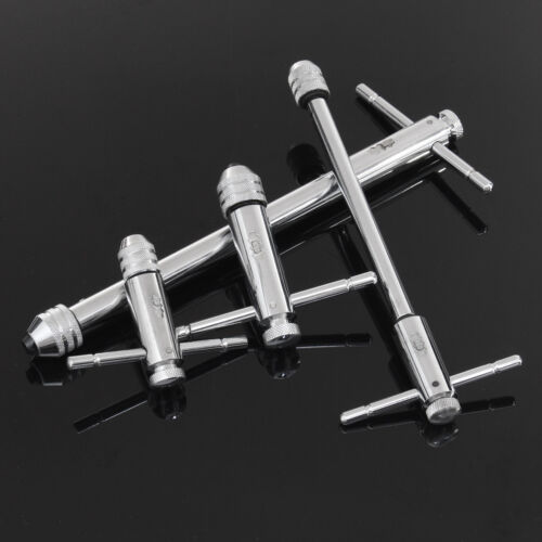 Adjustable T Bar Handle Ratchet Tap Wrench M3-M8 /& M5-M12 For Tap /& Die Set