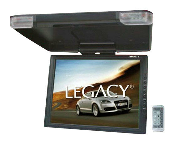 "NEW LEGACY LMR15.1 15"" LCD TFT Car/SUV/TRUCK Flip Down Roof Mount Monitor TV IR"