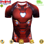 Mens-Marvel-Compression-Armour-Base-Layer-Gym-Top-Superhero-Cycling-T-shirt-fit thumbnail 10