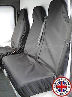 Peugeot Boxer Dropside HDI HEAVY DUTY BLACK WATERPROOF VAN SEAT COVERS 2+1