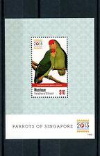 Mustique Grenadines St Vincent 2015 MNH Parrots of Singapore 2015 1v S/S Birds