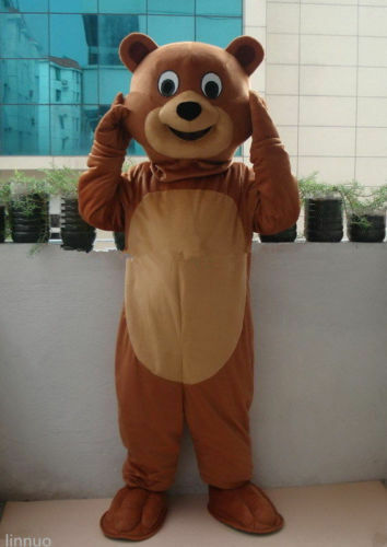 Teddy Bear Mascot Costume Halloween Cosplay Party Fancy Dress Adults Parade Suit
