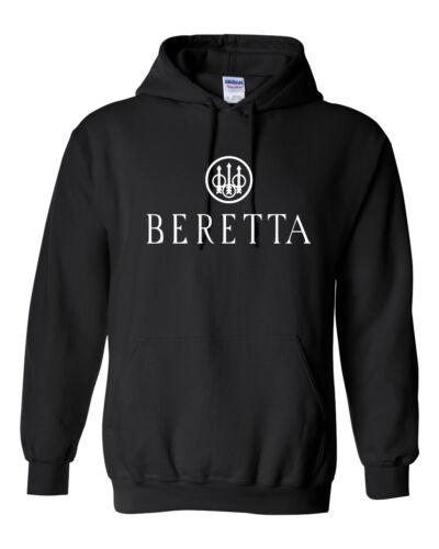 Beretta White Logo Hoodie Sweatshirt Pro Gun Brand 2nd Amendment Rifle Shotgun
