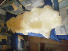 Lammfell Doppelfell Felldecke Sofaauflage in chromfreier Ökogerbung ca 60x180cm