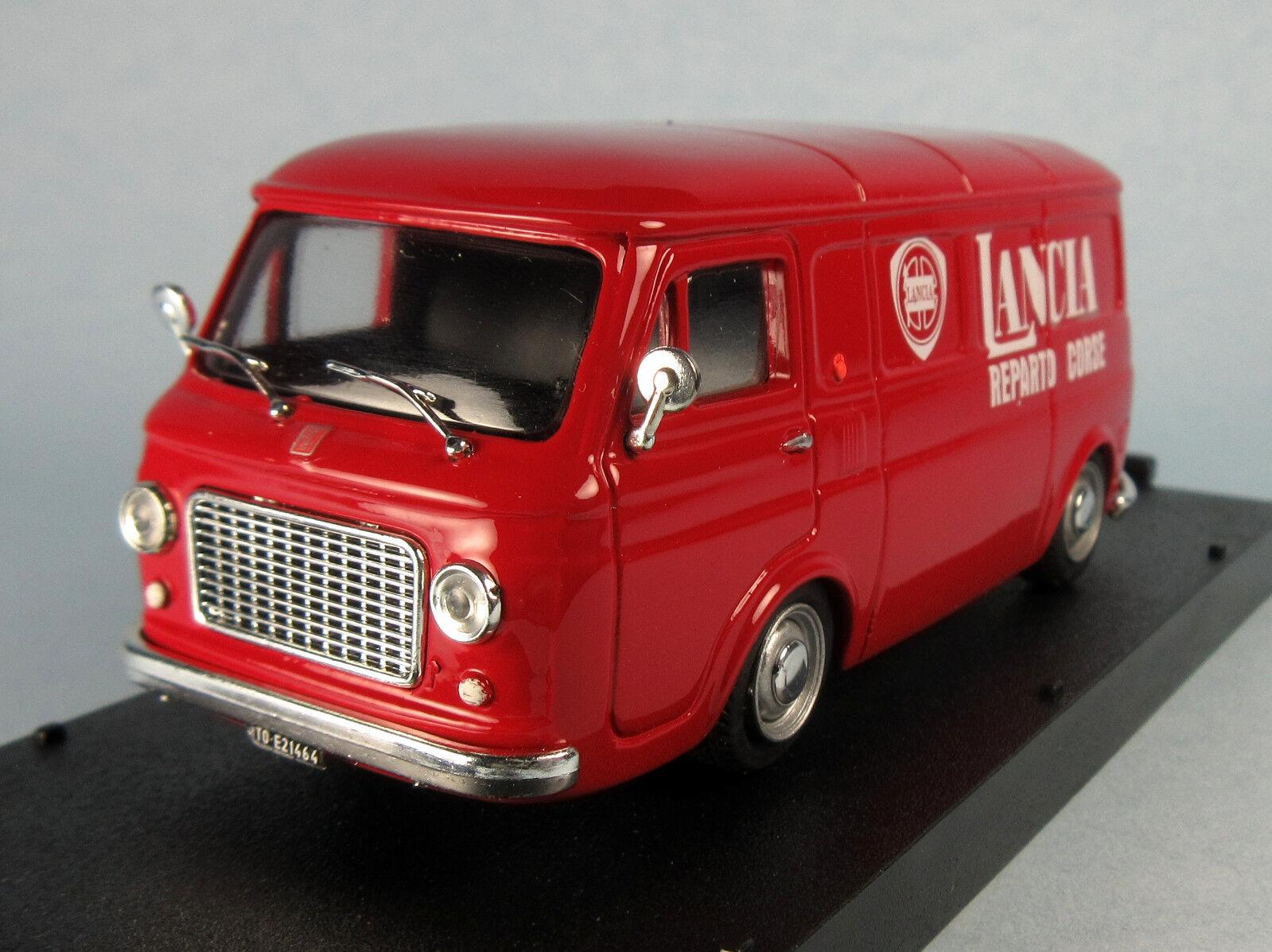 PROGETTO K Fiat 238 Lancia Racing Van (rojo)  Scale Diecast Model NEW, RARE