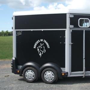 Horses In Transit Horsebox Trailer Vinyl Lettering Stickers Decals Graphics M Ebay