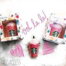 Pink Starbucks Portable USB Power Bank 5200mAh Phone Charger Backup Battery