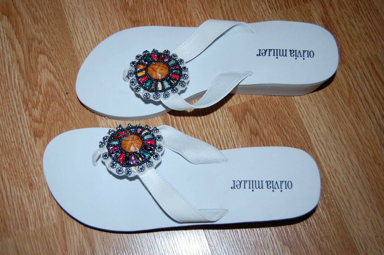 BCBGENERATION DARNELL Multi Blue Womens Designer Shoes Sandals 6 EUR 36