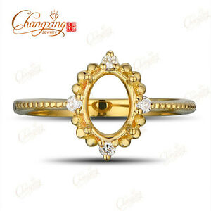 5x7mm-Oval-14k-Yellow-Gold-Natural-Full-Cut-Diamond-Engagement-Semi-Mount-Ring